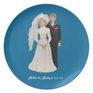 Coast Guard Enlisted Wedding Melamine Plate