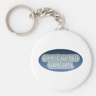 Coast Guard Grandpa Keychain