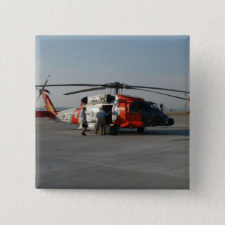 Coast Guard Helicopter 15 Cm Square Badge