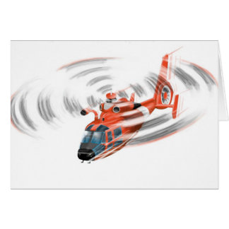 coast guard helicopter birthday card