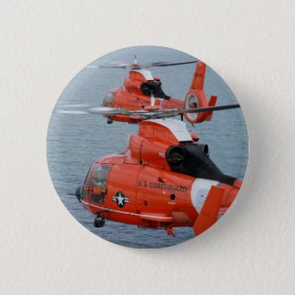 Coast Guard Helicopters 6 Cm Round Badge
