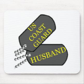 Coast Guard Husband Mouse Pad