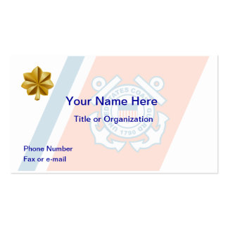 Coast Guard Lt Commander Business Card