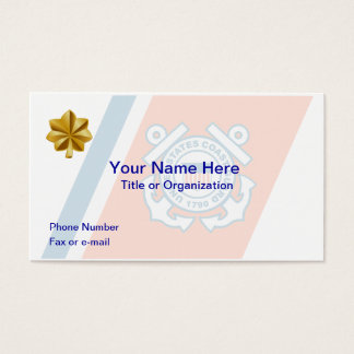 Coast Guard Lt. Commander Business Card