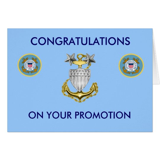 Coast Guard Master Chief E9 Promotion Card