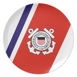 Coast Guard Racing Stripe - Right Plate