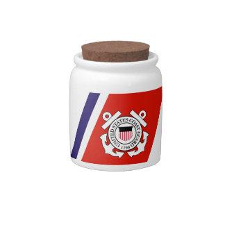 Coast Guard Racing Stripe - Right Candy Jar