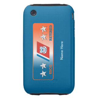 Coast Guard Rear Admiral Retired Shield Tough iPhone 3 Covers