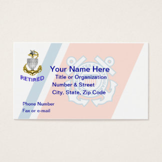 Coast Guard Senior Chief Retired Business Card