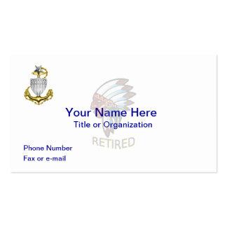 Coast Guard Senior Chief Retired Business Card