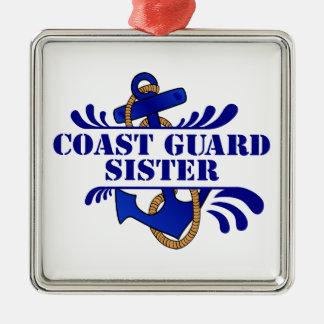 Coast Guard Sister, Anchors Away! Christmas Ornament
