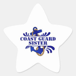 Coast Guard Sister, Anchors Away! Star Sticker