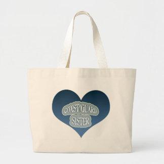 Coast Guard Sister Jumbo Tote Bag