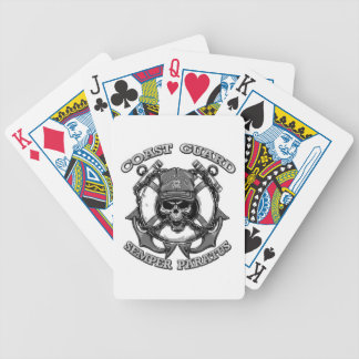 Coast Guard Skull Bicycle Playing Cards