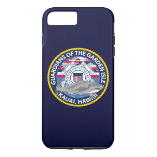 "Coast Guard Station Kauai Hawaii ""Navy Blue"" iPhone 7 Plus Case"