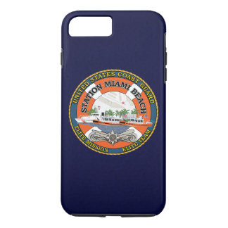 "Coast Guard Station Miami Beach ""Navy Blue"" iPhone 7 Plus Case"