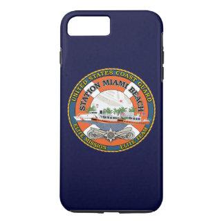 "Coast Guard Station Miami Beach ""Navy Blue"" iPhone 7 Plus Case"