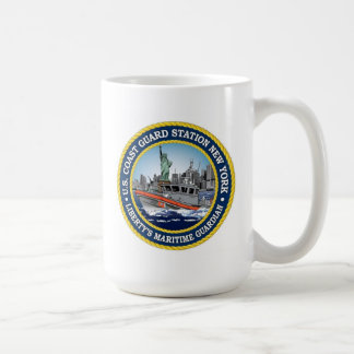 Coast Guard Station New York Basic White Mug