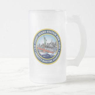 Coast Guard Station New York Frosted Glass Mug