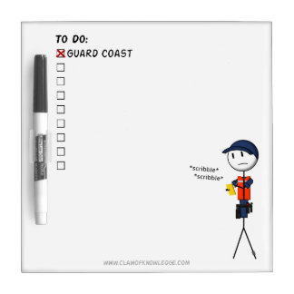 Coast Guard To-Do List Dry Erase Whiteboards