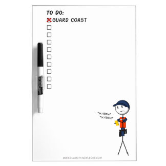 Coast Guard To-Do List Whiteboard Dry-Erase Whiteboards
