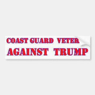Coast Guard Veteran Against Trump Bumper Sticker