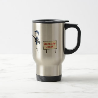 "Coast Guard ""Warning: Coast"" Travel Mug"