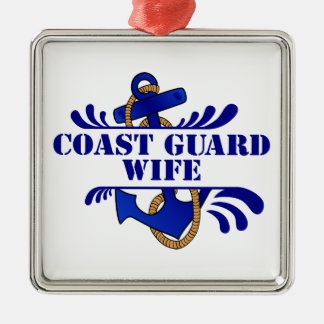 Coast Guard Wife, Anchors Away! Christmas Ornament