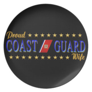 Coast Guard Wife Party Plate