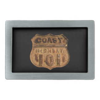 Coast Highway 101- Keep your pants on! Rectangular Belt Buckles