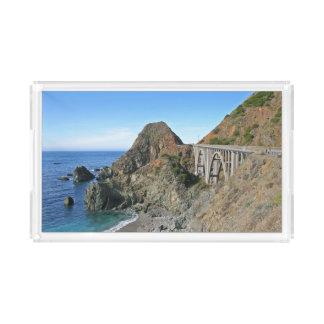 Coast Highway 1 - Big Creek Bridge Acrylic Tray