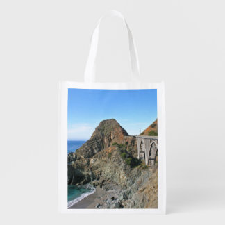 Coast Highway 1 - Big Creek Bridge Reusable Grocery Bag