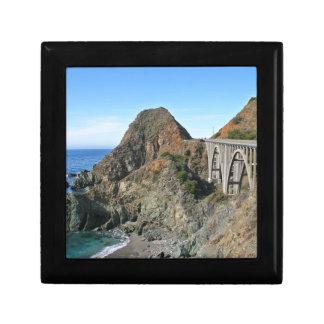 Coast Highway 1 - Big Creek Bridge Small Square Gift Box