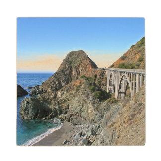Coast Highway 1 - Big Creek Bridge Wood Coaster