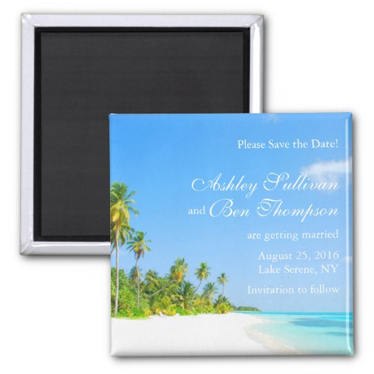 Coast Line Save the Date magnet