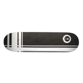 Coast of Columbus Skateboards (Silver/White)