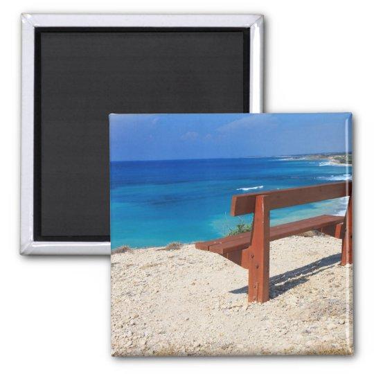 Coast of Cyprus Square Magnet