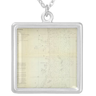 Coast of Delaware, Maryland, pt of Virginia Silver Plated Necklace
