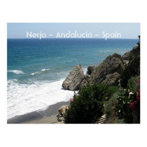 Coast of Nerja, Andalucía Post Cards