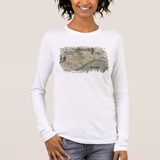 Coast of North Carolina, detail of the map titled Long Sleeve T-Shirt