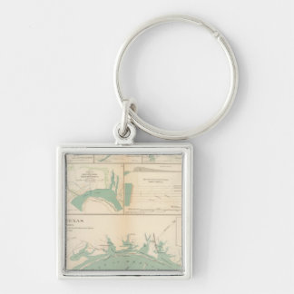 Coast of Texas Silver-Colored Square Key Ring