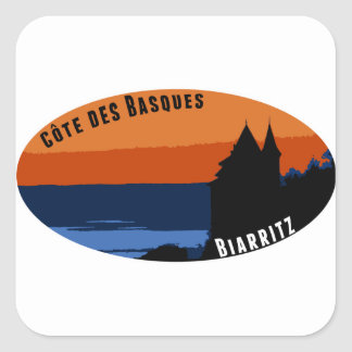 Coast of the Biarritz Basques Square Sticker