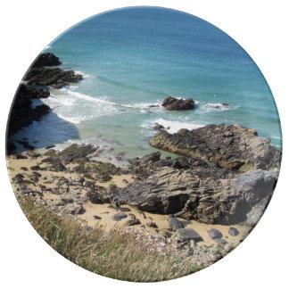 Coast Path near Padstow, Cornwall Porcelain Plate
