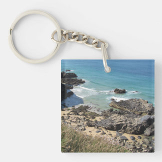 Coast Path nr Padstow, Cornwall Acrylic Key Ring