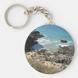 Coast Path nr Padstow, Cornwall Photo Key Ring