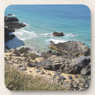 Coast Path nr Padstow, Cornwall Plastic Coasters