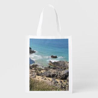 Coast Path nr Padstow, Cornwall Reusable Bag