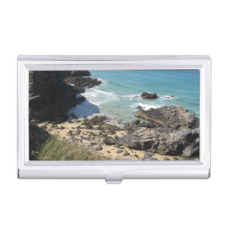 Coast Path Padstow Cornwall Business Card Holder