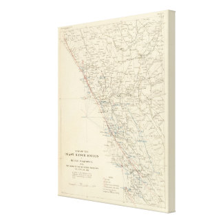 Coast Range Middle California Canvas Print