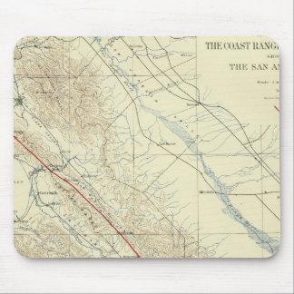 Coast Ranges showing San Andreas Rift Mouse Mat